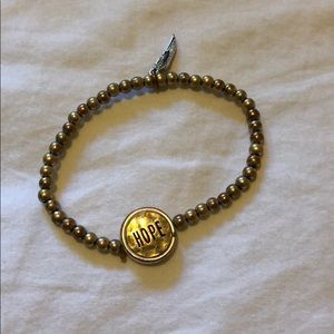 gold hope faith healing bracelet